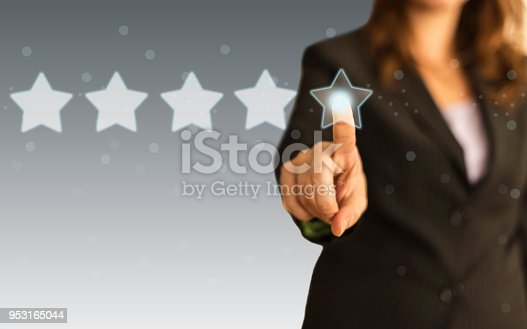 1128693163 istock photo Five Stars Rating, positive feedback 953165044