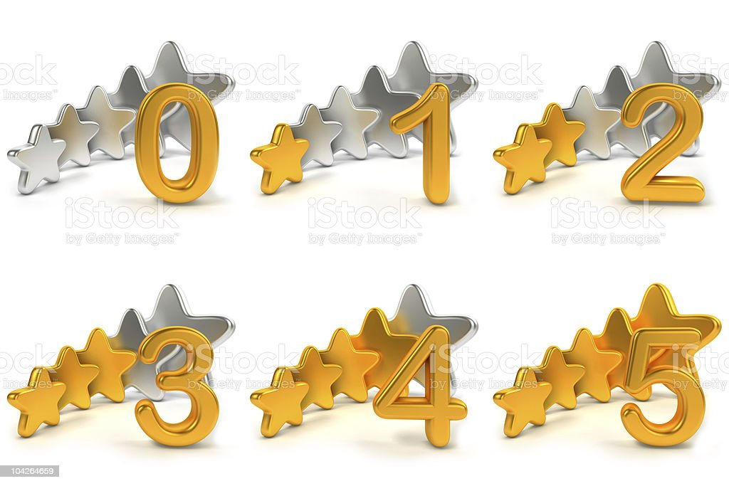 Five stars ratings royalty-free stock photo