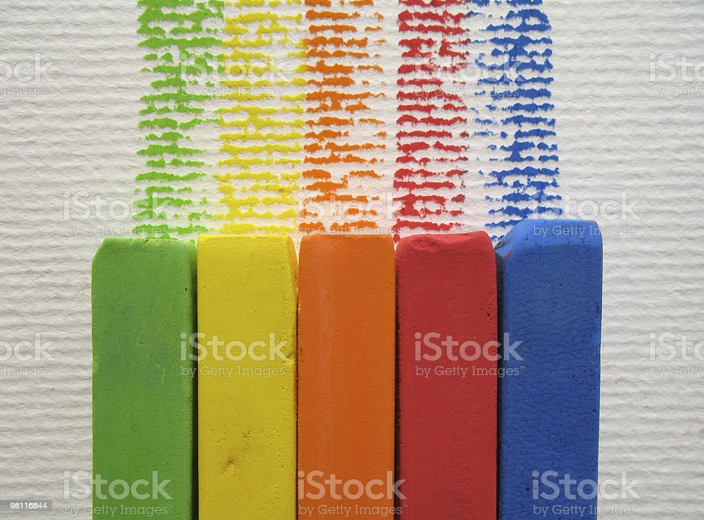 Five Sticks of Pastel 5 royalty-free stock photo
