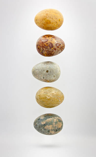 Five Stone Eggs stock photo