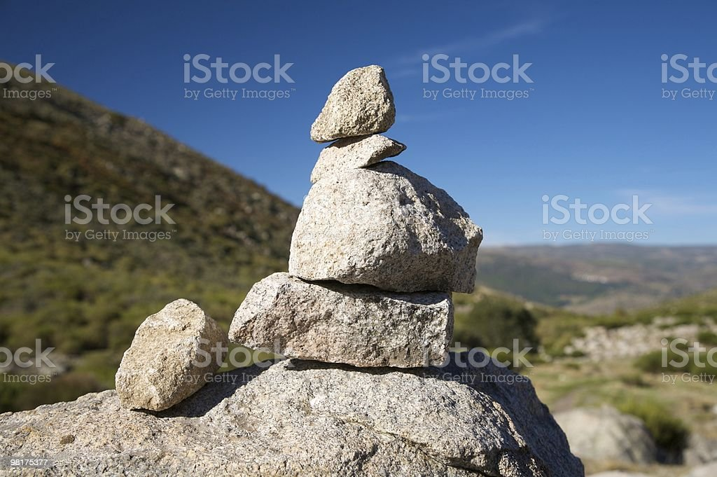 five stones royalty-free stock photo