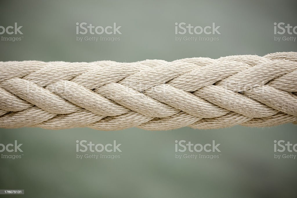 Five Strand Braided Rope, Pattern, Close Up royalty-free stock photo