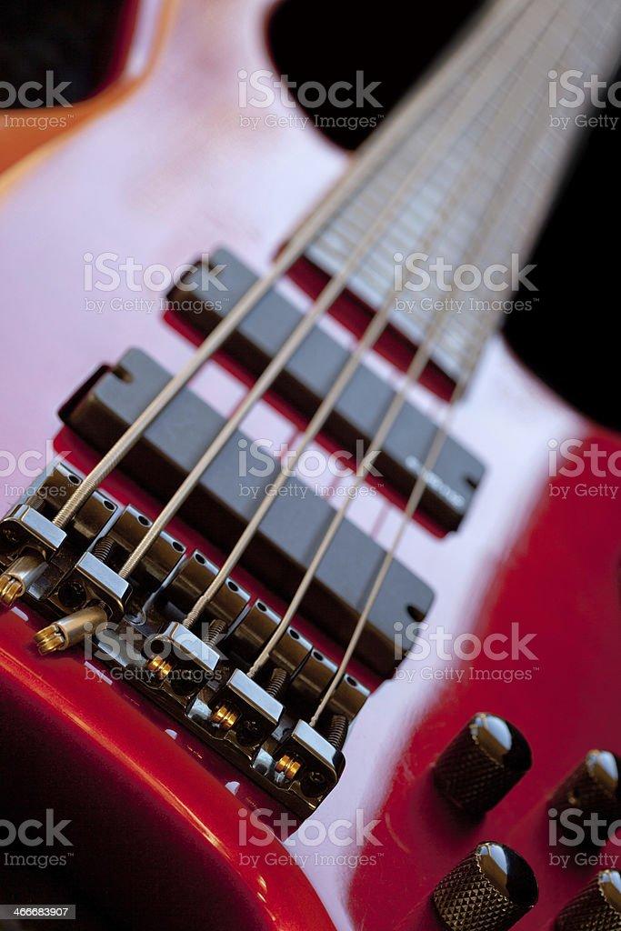 Five String Bass Guitar stock photo