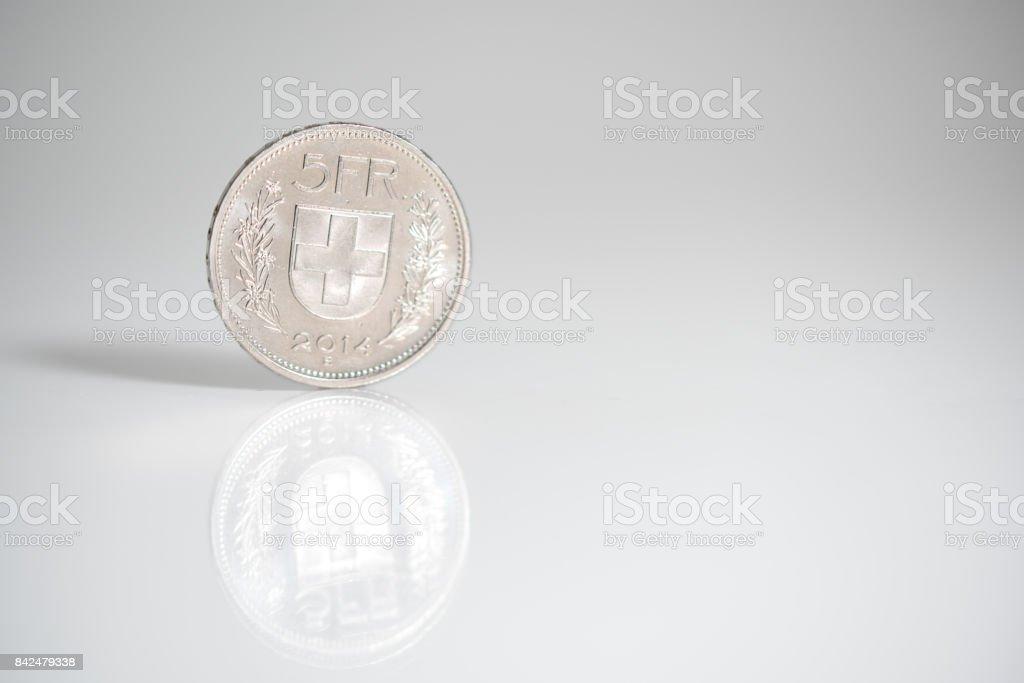 Five Swiss Franks stock photo