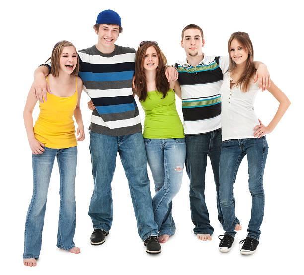 Fünf Teen Freunde – Foto
