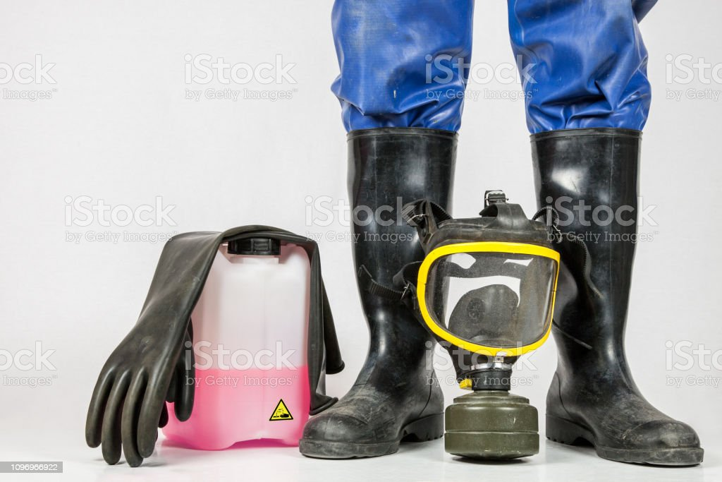Five things for industrial cleaning - Royalty-free Bucket Stock Photo