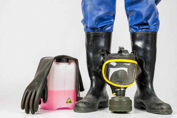 Five things for industrial cleaning stock photo
