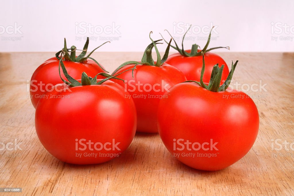 Five Tomatoes royalty-free stock photo