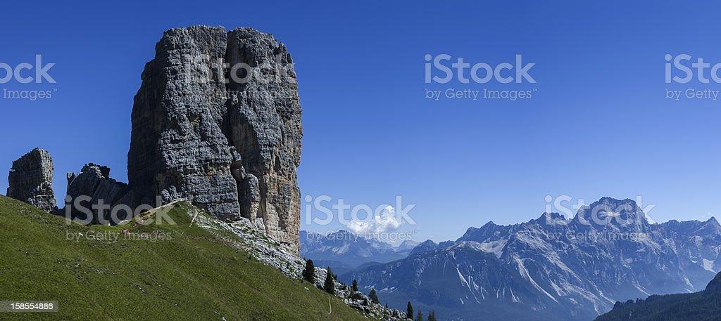 5 타워수, Dolomites royalty-free 스톡 사진