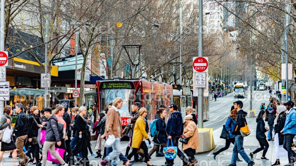 Five Trams stock photo