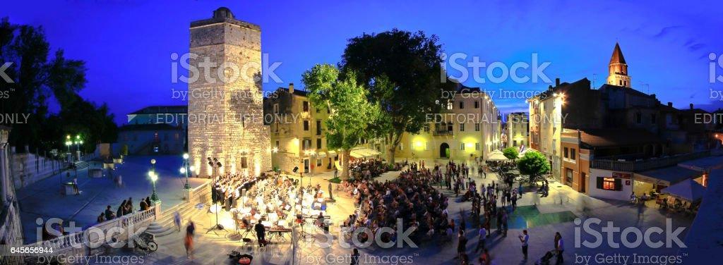 Five wells square in Zadar, Croatia stock photo