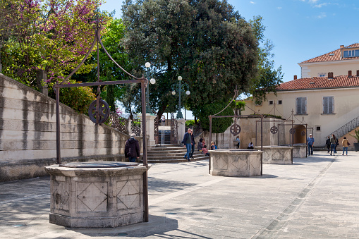 Five Wells Square In Zadar Stock Photo - Download Image Now