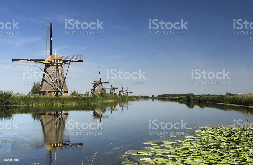 Five windmills royalty-free stock photo