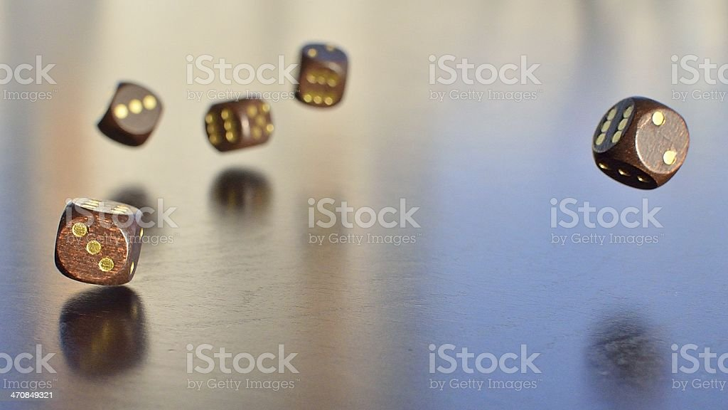 five wooden dice royalty-free stock photo