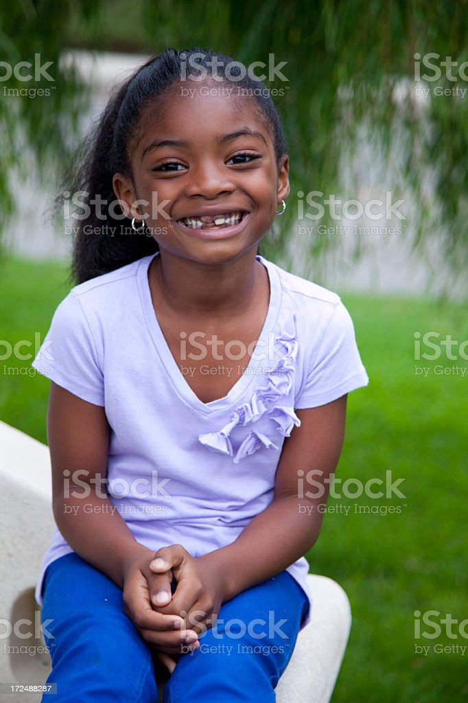 Five year old African American girl royalty-free stock photo