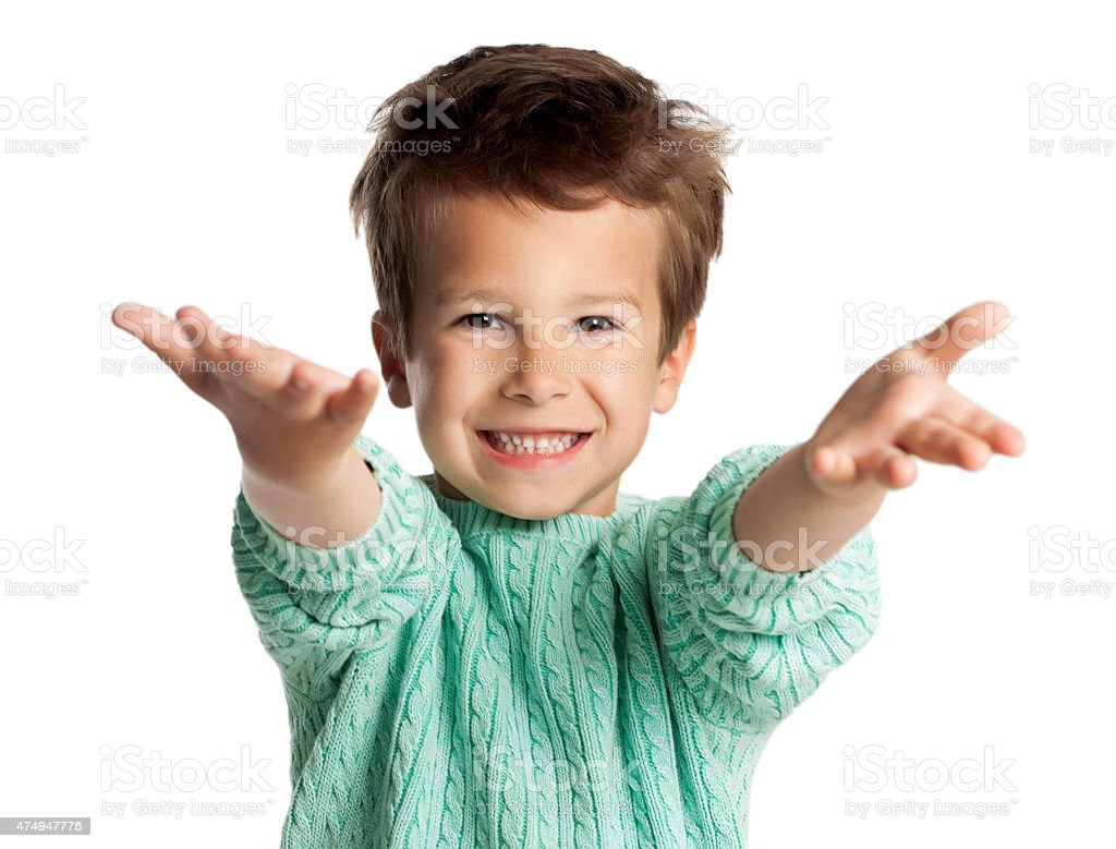 Five Year Old Boy stock photo