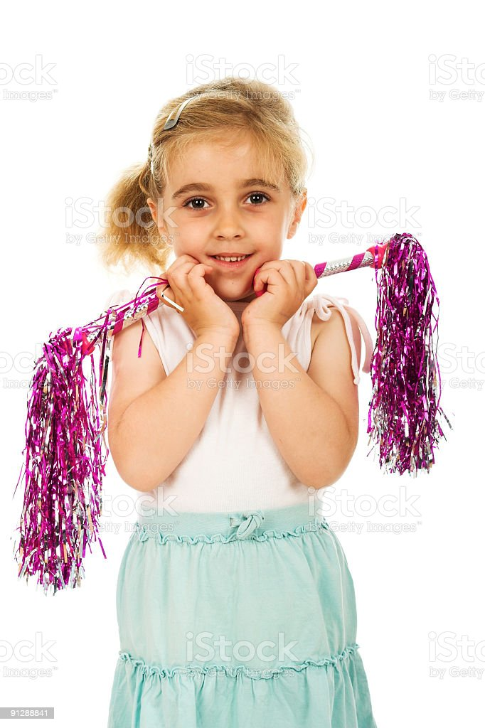 Five year old cheerleader kid royalty-free stock photo