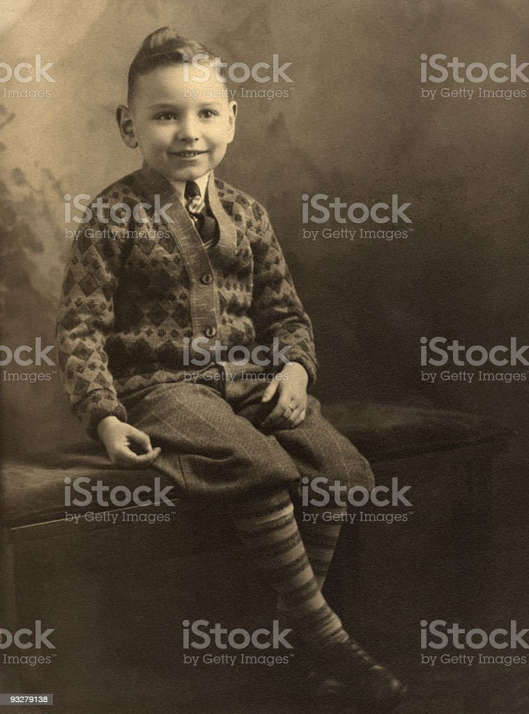 Five year old little boy royalty-free stock photo
