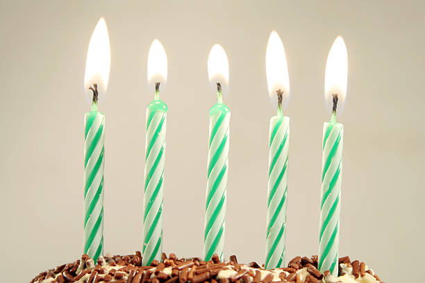five years five years birthday candle stock pictures, royalty-free photos & images