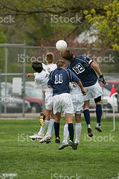 Five young male soccer players jump to head ball picture id92548562?b=1&k=6&m=92548562&s=612x612&h=vwzuhvhcgaz3w8ix4q4m8hyac5ccsnfutwtv0ju xm8=