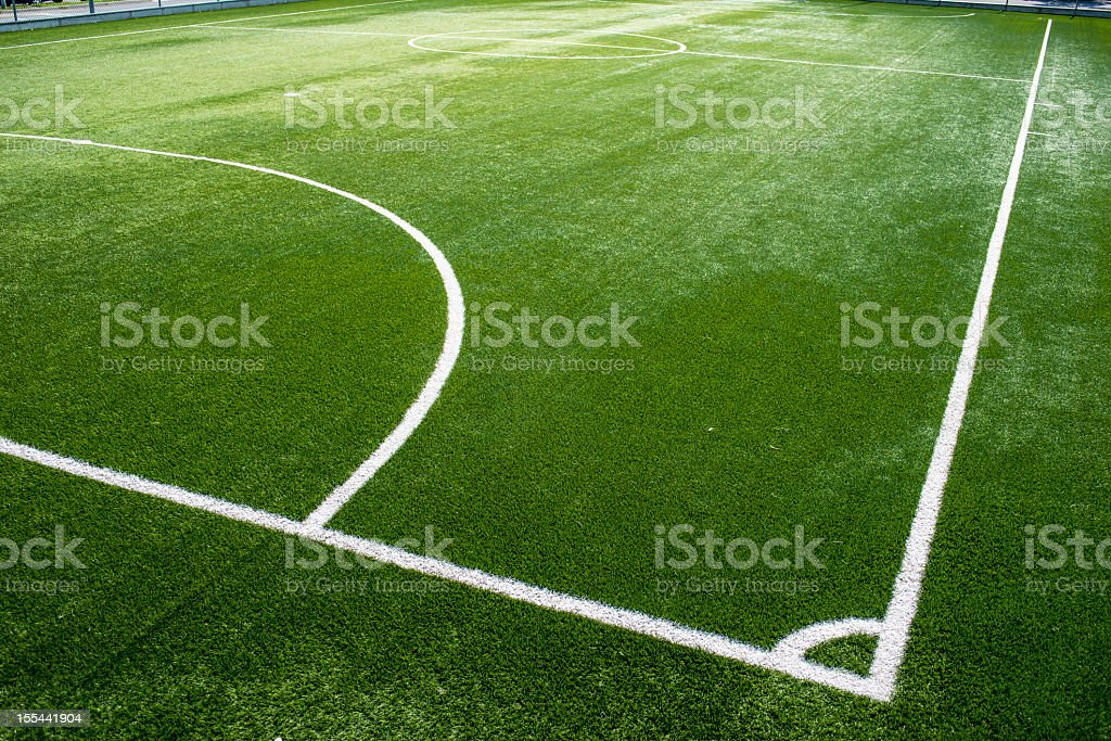 Five-a-side football pitch stock photo