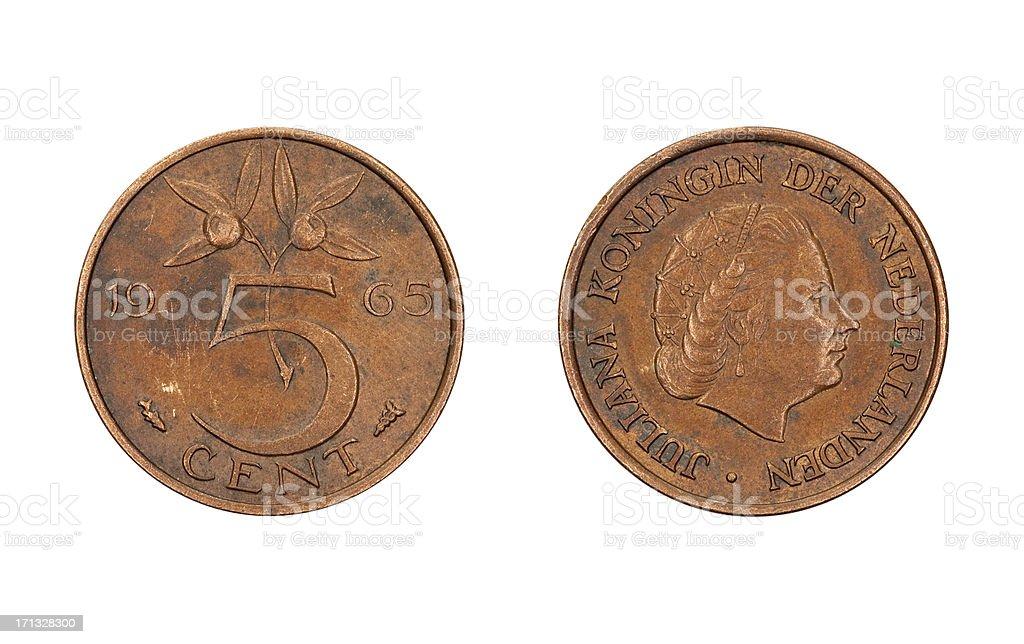 5centmünze Niederlande 1965 Stock Fotografie Und Mehr Bilder Von