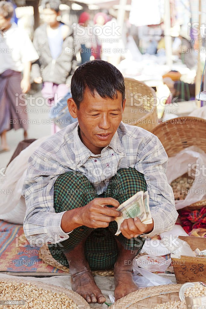 Five-day market, Inle Lake royalty-free stock photo