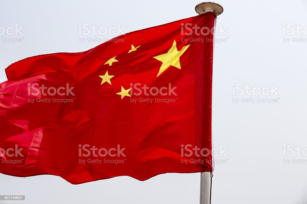 five-star red flag royalty-free stock photo