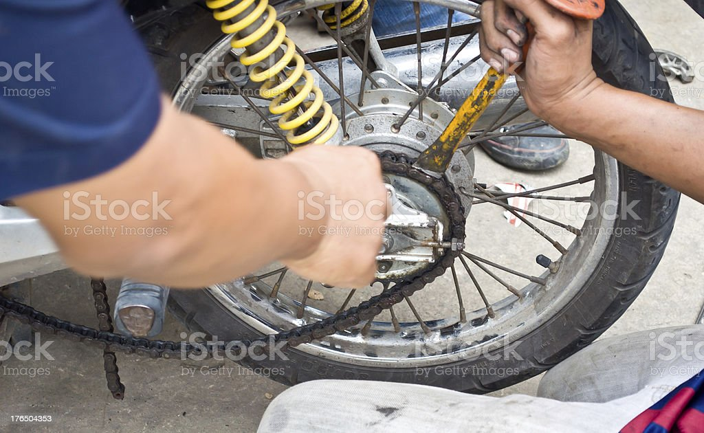 Fix motorcycle royalty-free stock photo