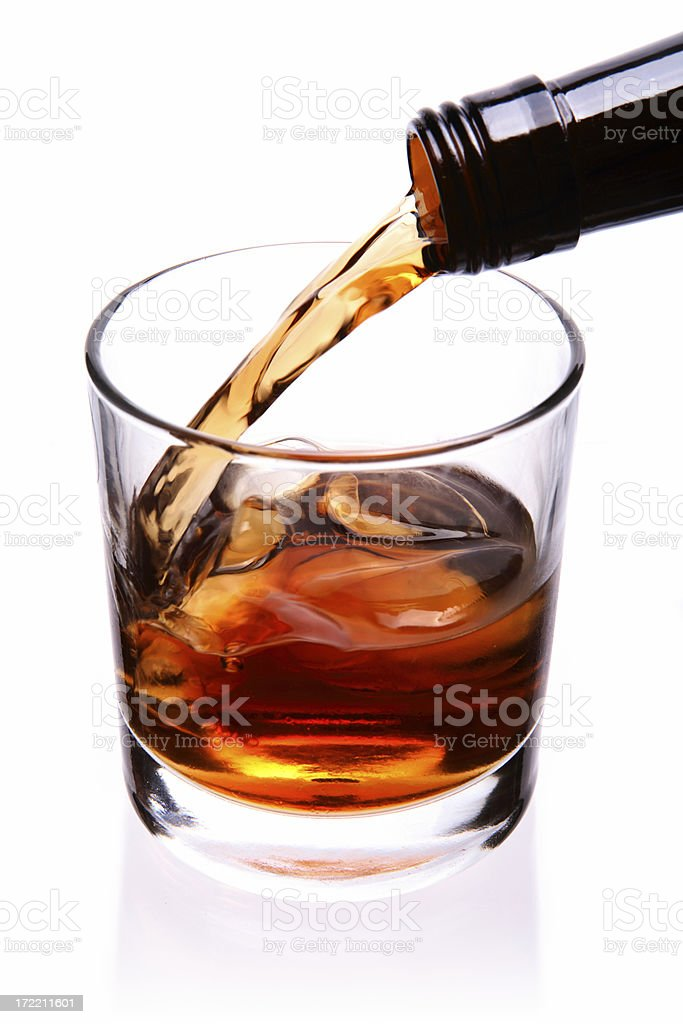 Fixing a drink. stock photo