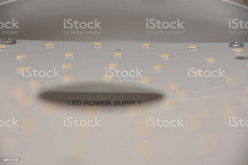 FixING A LED lighting fixture stock photo