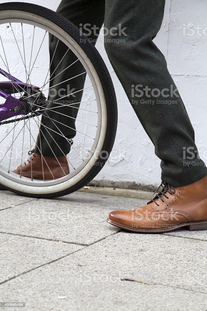 fixing bike royalty-free stock photo
