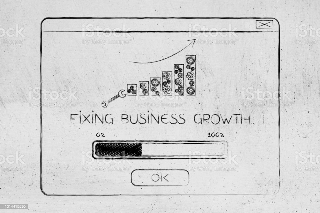 Fixing Business Growth Popup Message With Graph Bars And