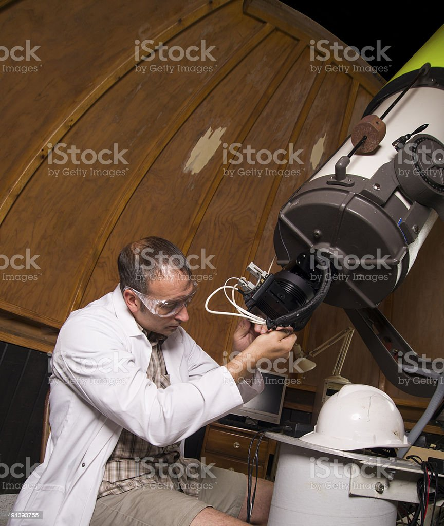 Fixing it stock photo