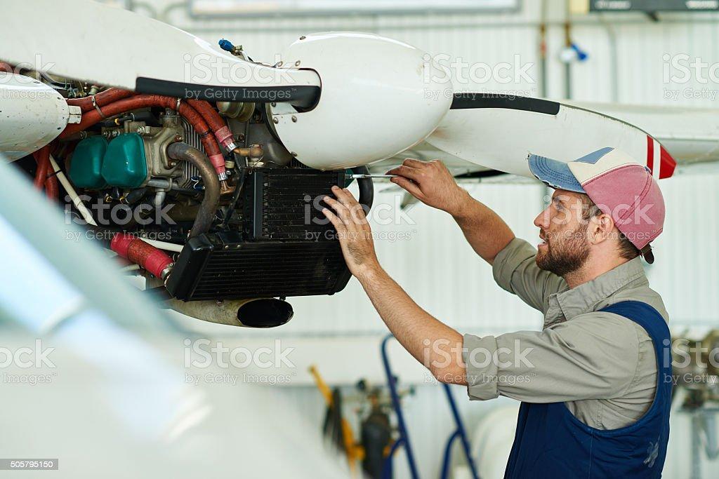 Fixing screw stock photo