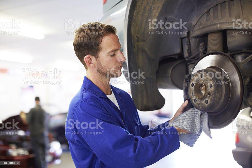 Fixing the wheel bearing royalty-free stock photo