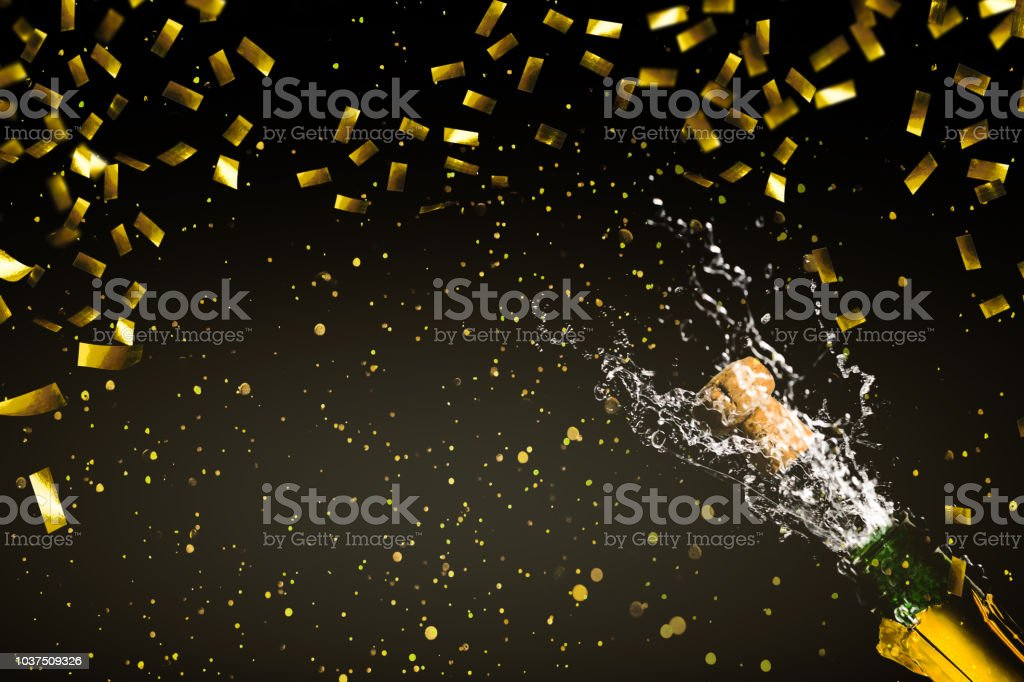 champagne pétillant de confettis grandechose or - Photo