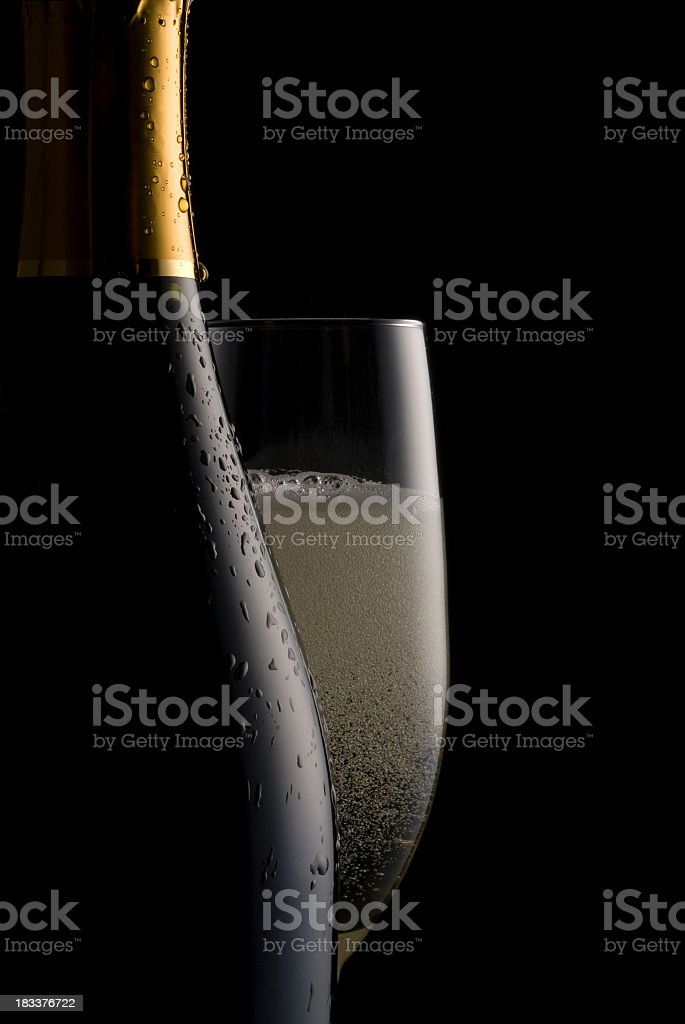 Fizzy Champagne stock photo