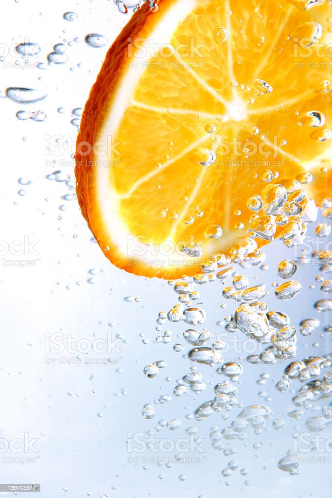 fizzy orange stock photo