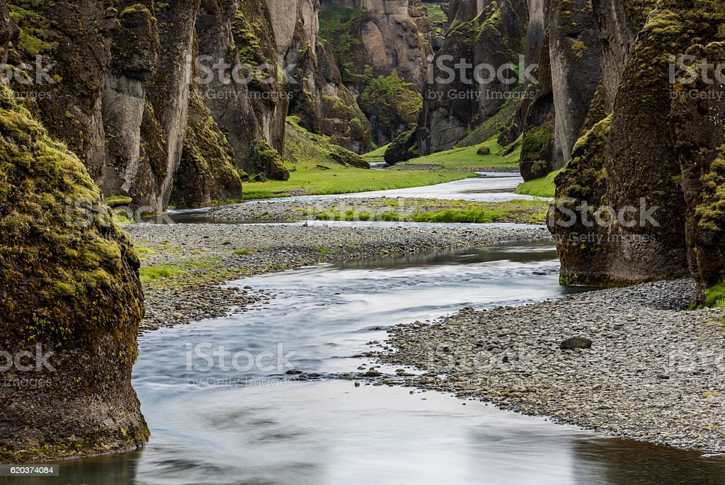 Fjadrargljufur Canyon Iceland zbiór zdjęć royalty-free