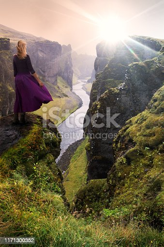 Amazing view over the ravine beneath