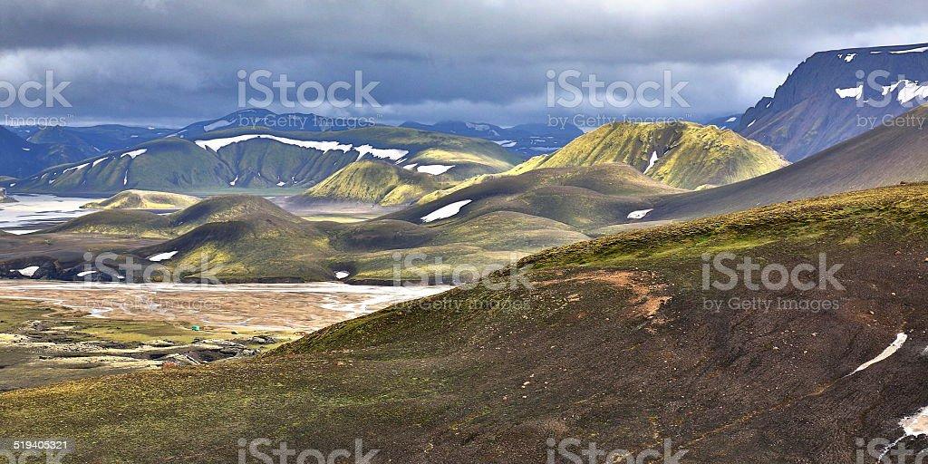 Fjallabak Iceland stock photo