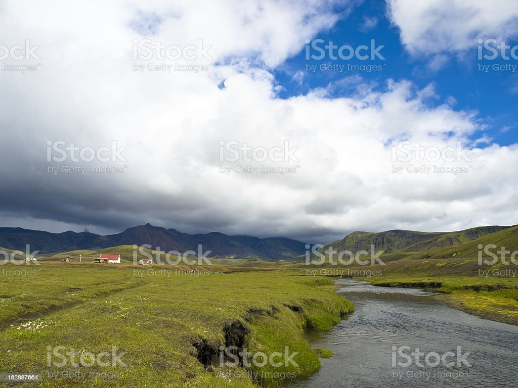 Fjallabak Nature Reserve - Alftavatn stock photo
