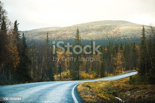 Finnish landscape in Lapland. Pallas-Yllästunturin kansallispuisto.