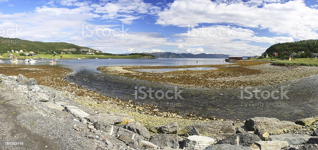 Fjord and river royalty-free stock photo