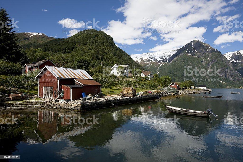 Fjord at Balestrand royalty-free stock photo
