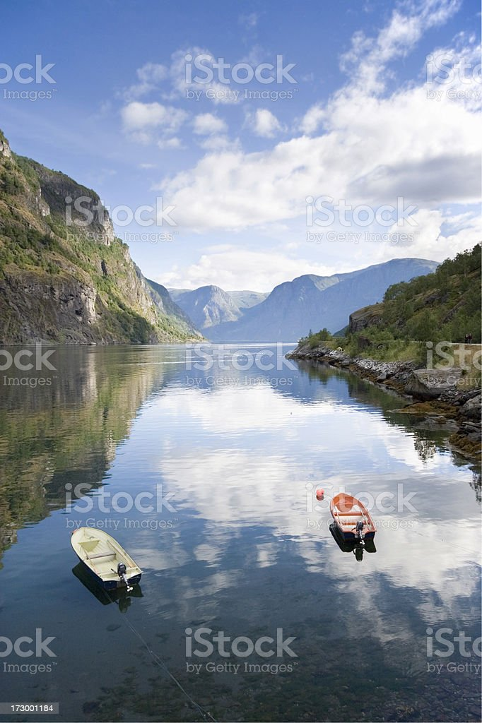 Fjord at Flam stock photo