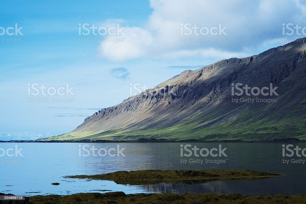 Fjord in Iceland stock photo