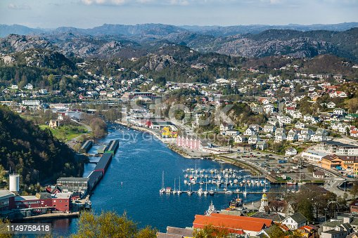 Egersund, fjord and harbor, south Norway