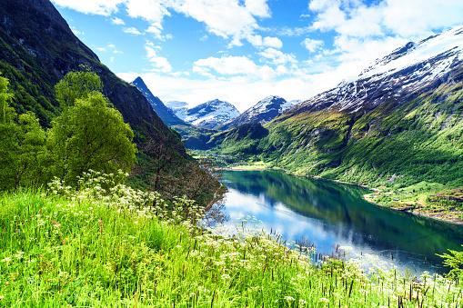 Fjord, Geiranger, Geirangerfjord, Northern Europe, Norway